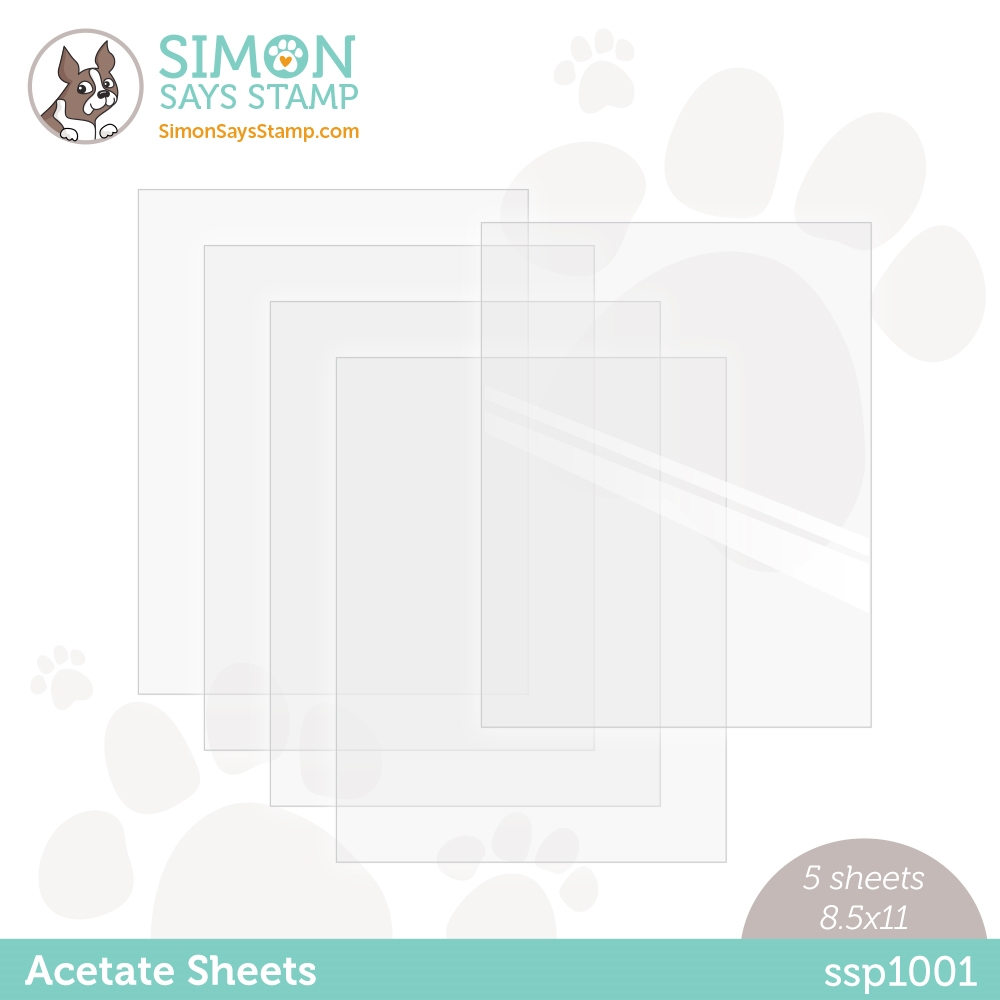 Simon Says Stamp Premium Heat Resistant CLEAR ACETATE SHEETS ssp1001 Stamptember zoom image
