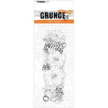 Studio Light HIBISCUS Grunge Collection 35 Clear Stamps slgrstamp35