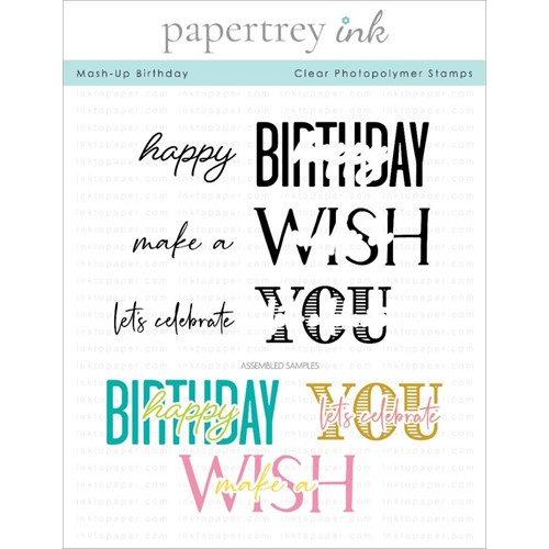 Ink to Paper MASH UP BIRTHDAY Clear Stamps 1309 Preview Image