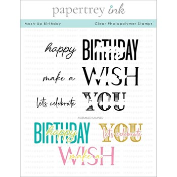 Papertrey Ink MASH UP BIRTHDAY Clear Stamps 1309
