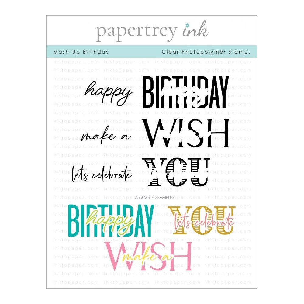 Ink to Paper MASH UP BIRTHDAY Clear Stamps 1309 zoom image