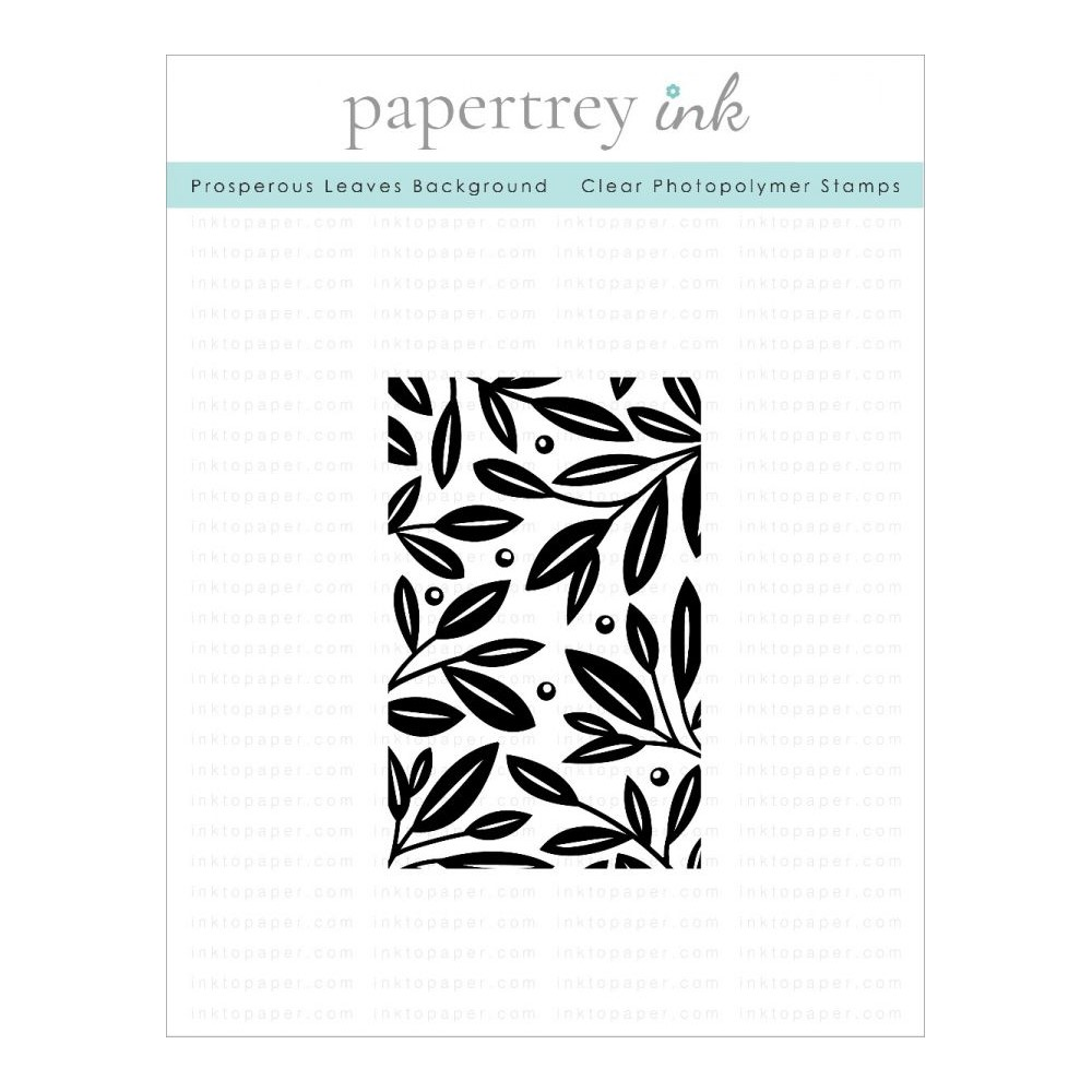 Papertrey Ink PROSPEROUS LEAVES Clear Background Stamp 1308 zoom image