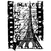 Tim Holtz Rubber Stamp PARIS FILM Stampers Anonymous P4-1489