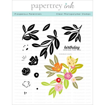 Papertrey Ink PROSPEROUS PERENNIALS Clear Stamps 1307