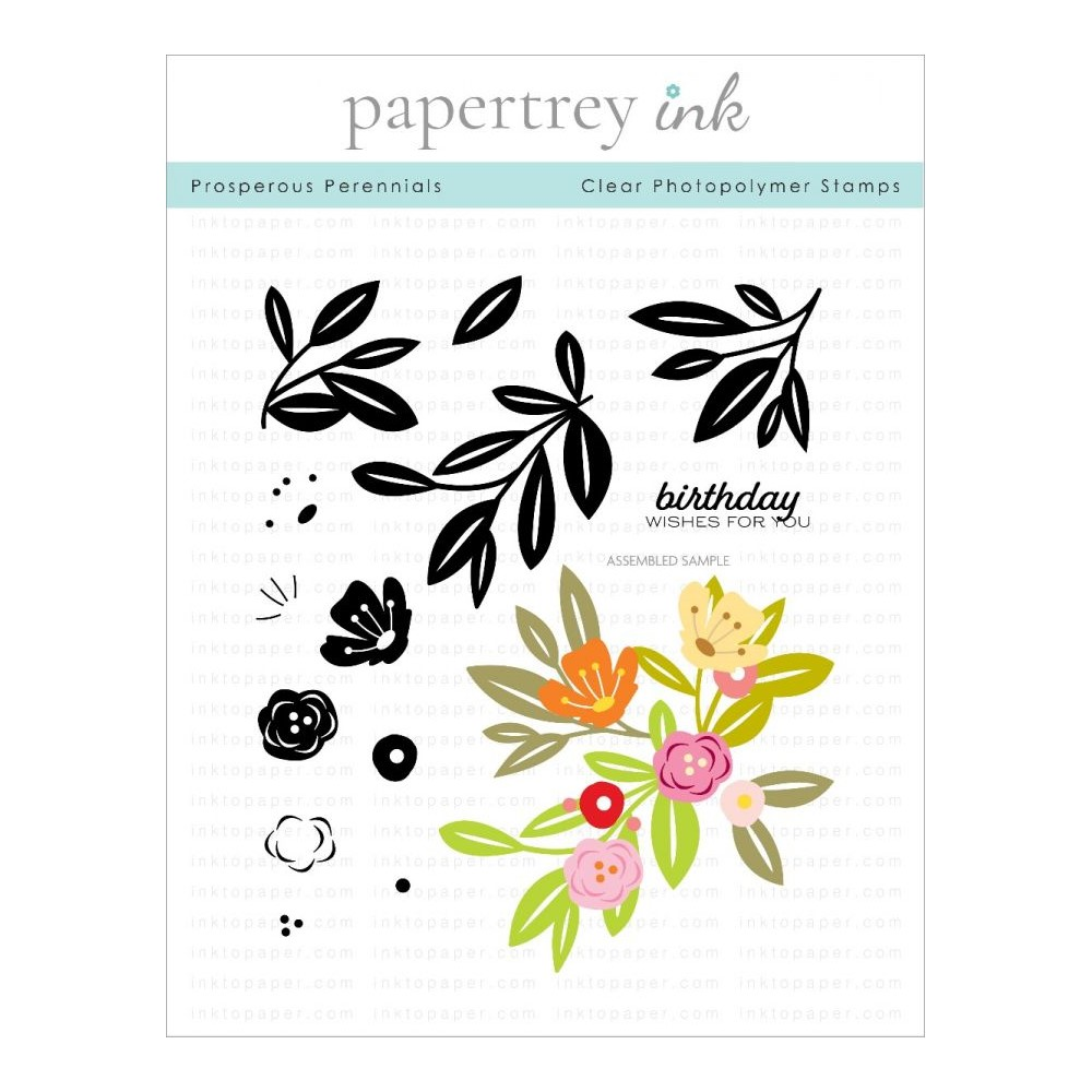 Ink to Paper PROSPEROUS PERENNIALS Clear Stamps 1307 zoom image