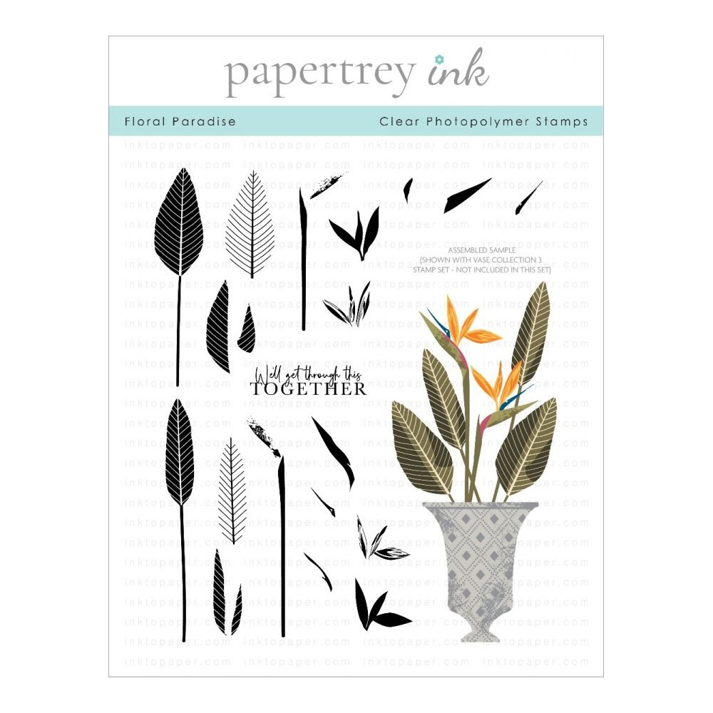 Papertrey Ink FLORAL PARADISE Clear Stamps 1306 zoom image