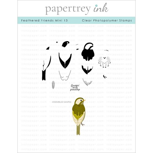 Ink to Paper FEATHERED FRIENDS MINI 13 Clear Stamps 1305 Preview Image
