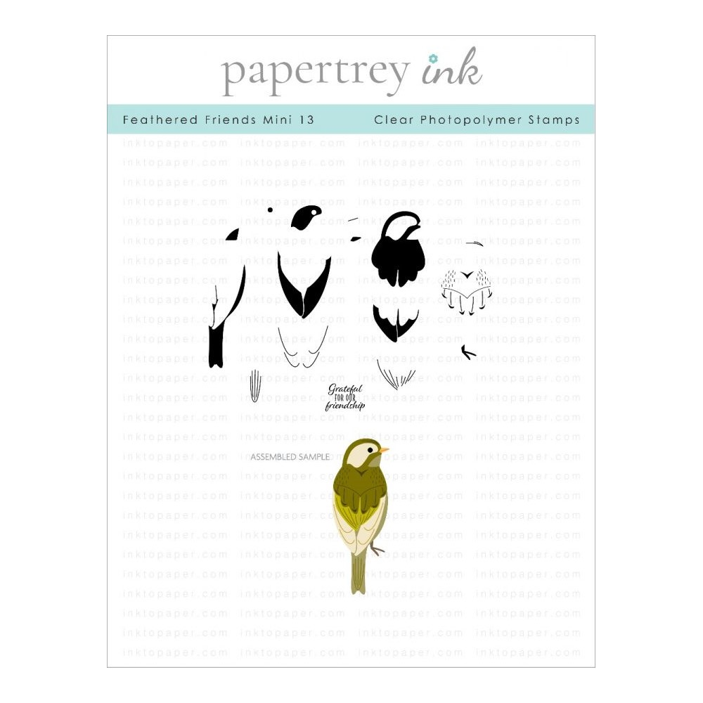 Ink to Paper FEATHERED FRIENDS MINI 13 Clear Stamps 1305 zoom image
