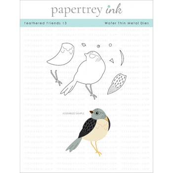 Papertrey Ink FEATHERED FRIENDS 13 Dies ITP311