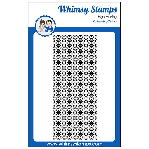 Whimsy Stamps SLIMLINE DAISIES Embossing Folder WSEF03 Preview Image