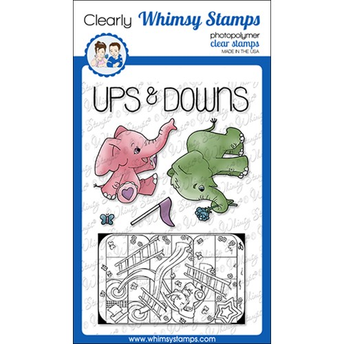Whimsy Stamps TIN GAMES UP AND DOWN Clear Stamps BS1030 Preview Image