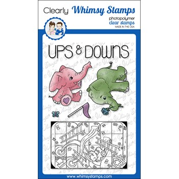 Whimsy Stamps TIN GAMES UP AND DOWN Clear Stamps BS1030
