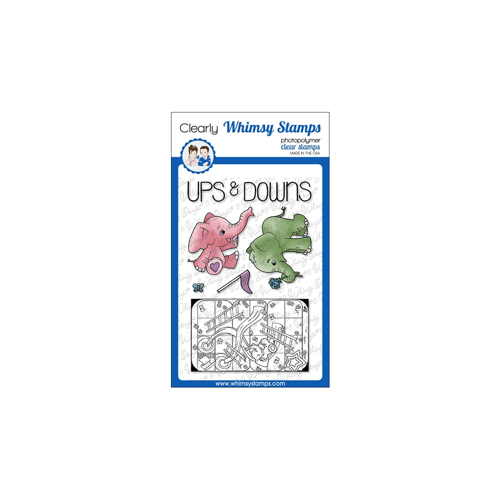 Whimsy Stamps TIN GAMES UP AND DOWN Clear Stamps BS1030 zoom image