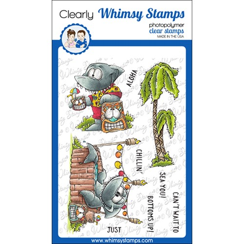 Whimsy Stamps SHARKFEST Clear Stamps DP1072 Preview Image