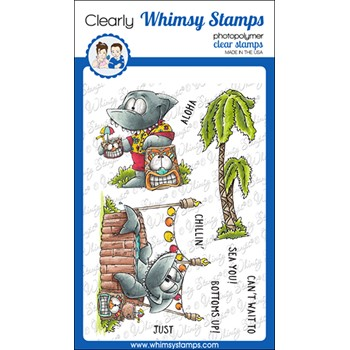Whimsy Stamps SHARKFEST Clear Stamps DP1072