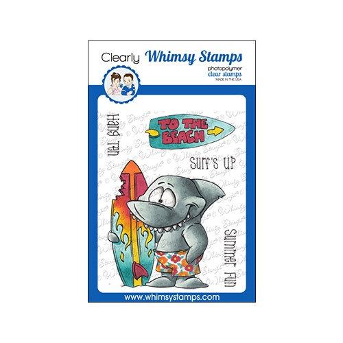 Whimsy Stamps SURF SHARK Clear Stamps DP1071 Preview Image