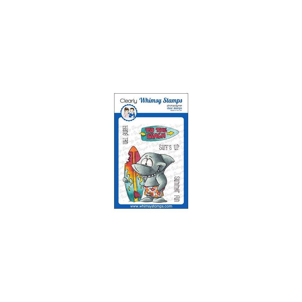 Whimsy Stamps SURF SHARK Clear Stamps DP1071 zoom image
