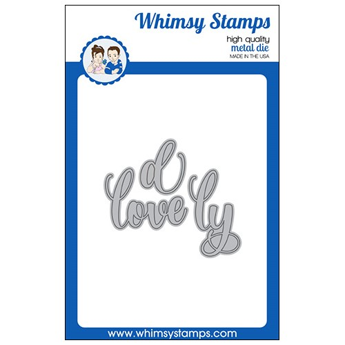 Whimsy Stamps LOVE Word Dies WSD557 Preview Image