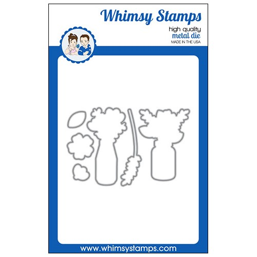 Whimsy Stamps FLOWER WISHES Dies WSD556 Preview Image