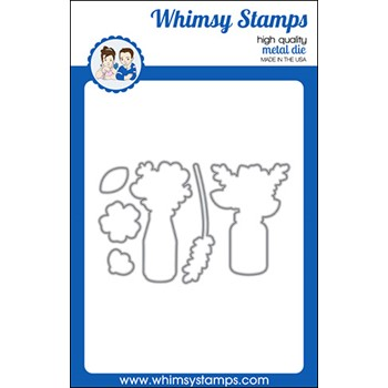 Whimsy Stamps FLOWER WISHES Dies WSD556