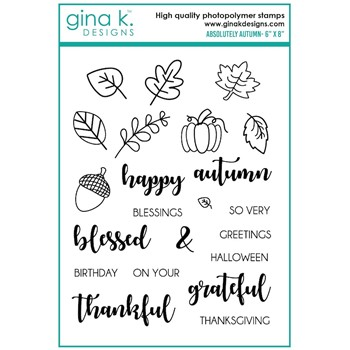 Gina K Designs ABSOLUTELY AUTUMN Clear Stamps bs42