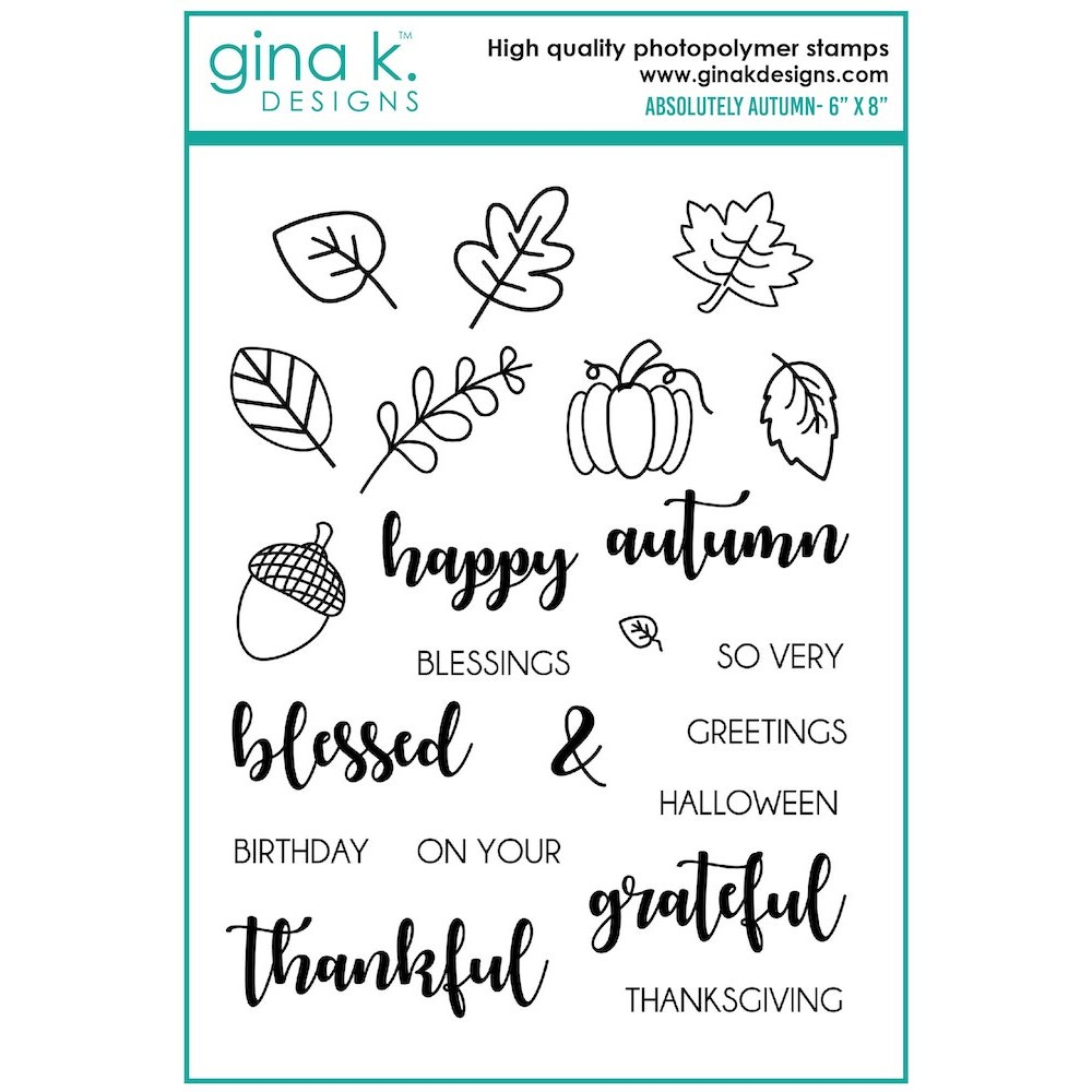 Gina K Designs ABSOLUTELY AUTUMN Clear Stamps bs42 zoom image