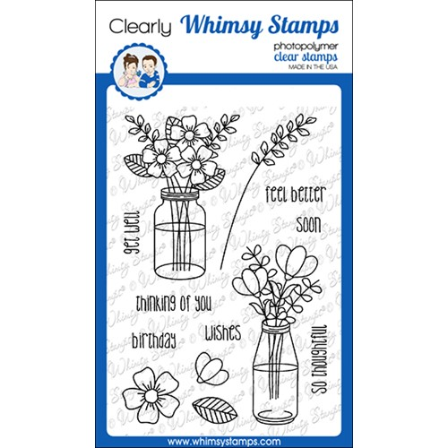 Whimsy Stamps FLOWER WISHES Clear Stamps CWSD382 Preview Image