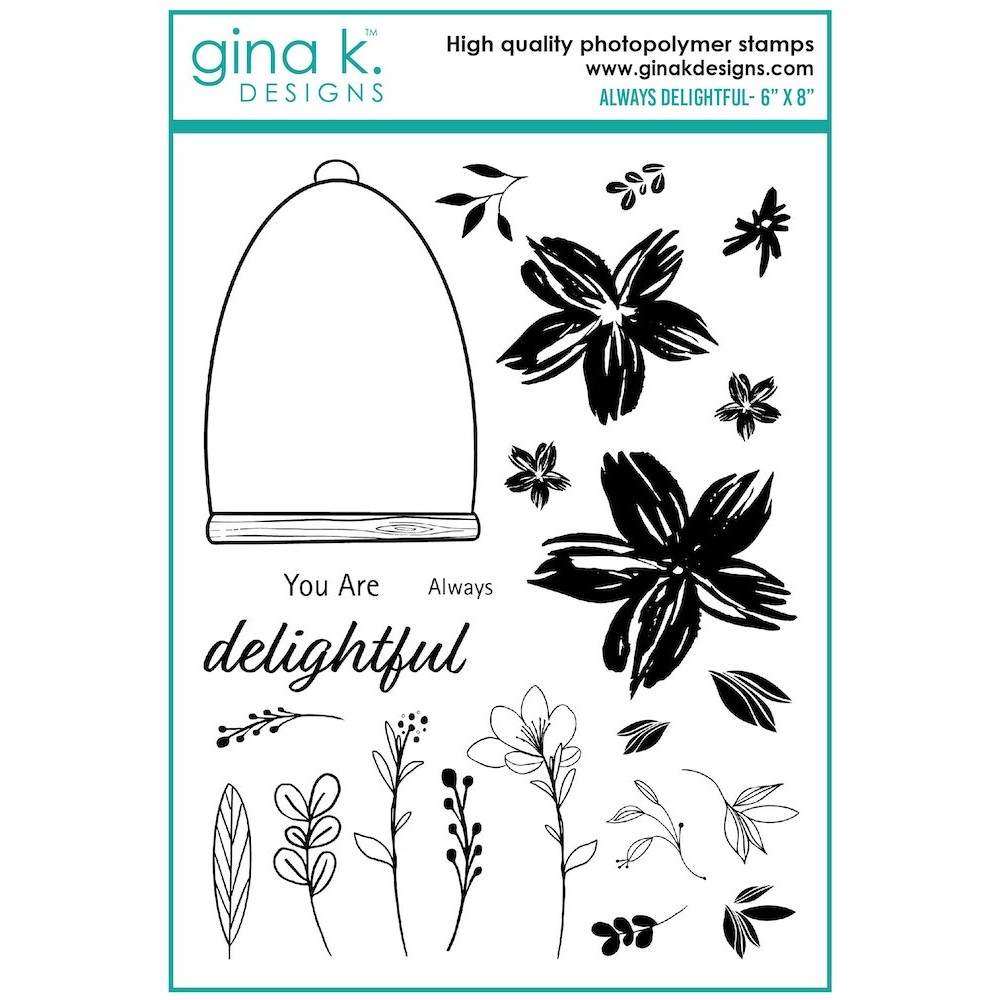 Gina K Designs ALWAYS DELIGHTFUL Clear Stamps lh19 zoom image