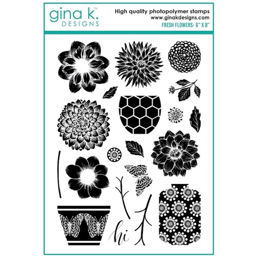 Gina K Designs FRESH FLOWERS Clear Stamps mm103 Preview Image