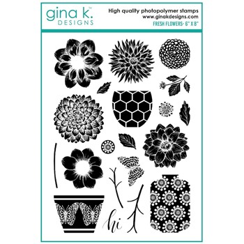 Gina K Designs FRESH FLOWERS Clear Stamps mm103
