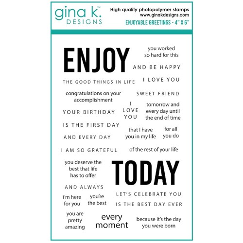 Gina K Designs ENJOYABLE GREETINGS Clear Stamps gkd108 Preview Image