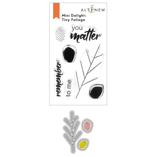 Altenew MINI DELIGHT TINY FOLIAGE Clear Stamp and Die Bundle ALT6246 Preview Image