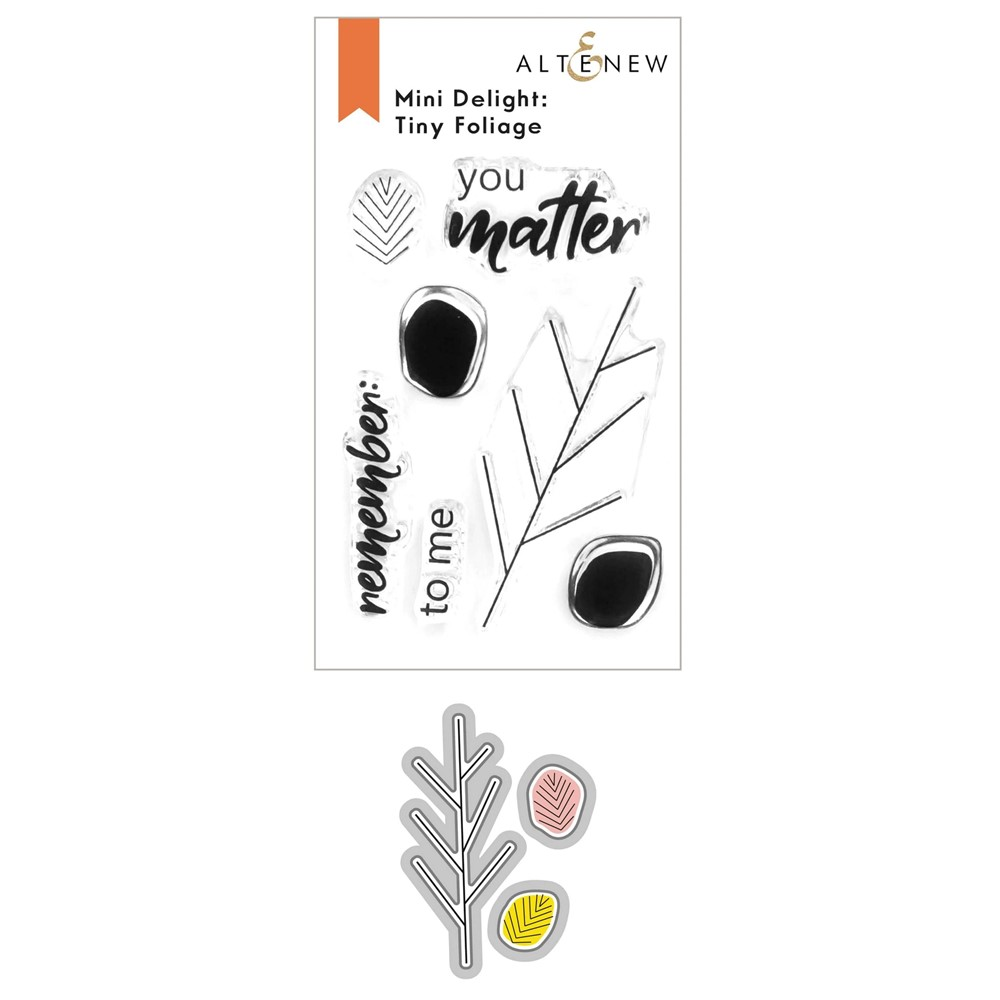 Altenew MINI DELIGHT TINY FOLIAGE Clear Stamp and Die Bundle ALT6246 zoom image