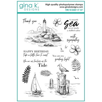 Gina K Designs TIME TO COAST Clear Stamps gkd110