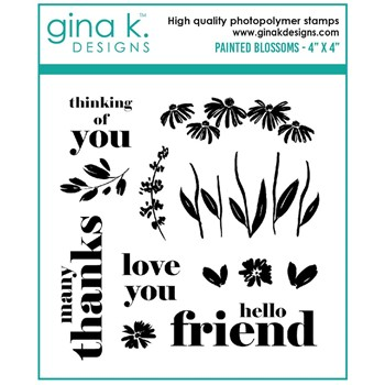 Gina K Designs PAINTED BLOSSOMS Clear Stamps gkd109