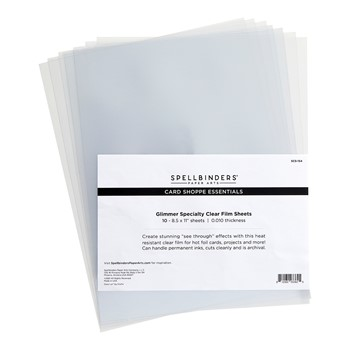 SCS-154 Spellbinders GLIMMER SPECIALTY CLEAR FILM SHEETS Card Shoppe Essentials