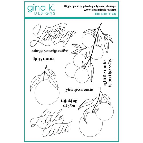 Gina K Designs LITTLE CUTIE Clear Stamps el19 Preview Image