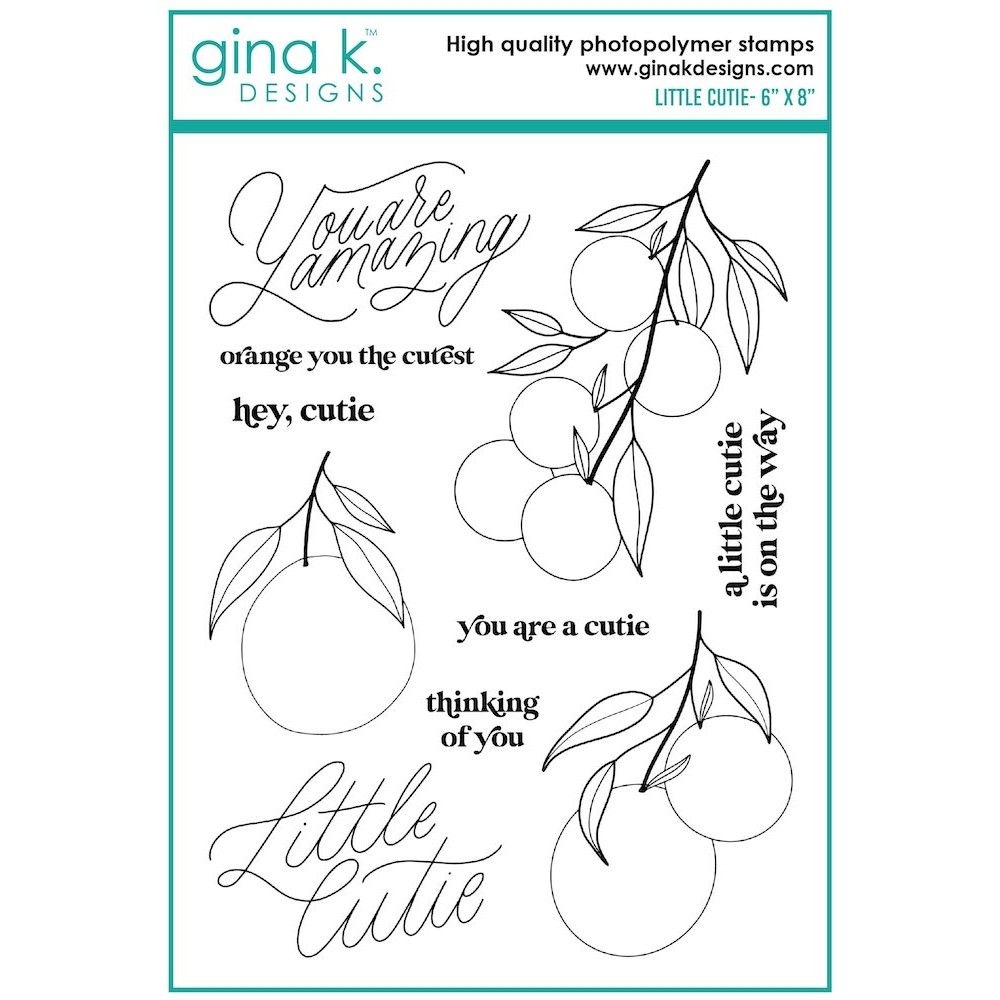 Gina K Designs LITTLE CUTIE Clear Stamps el19 zoom image