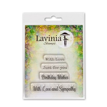 Lavinia Stamps HEARTFELT VERSES Clear Stamps LAV677