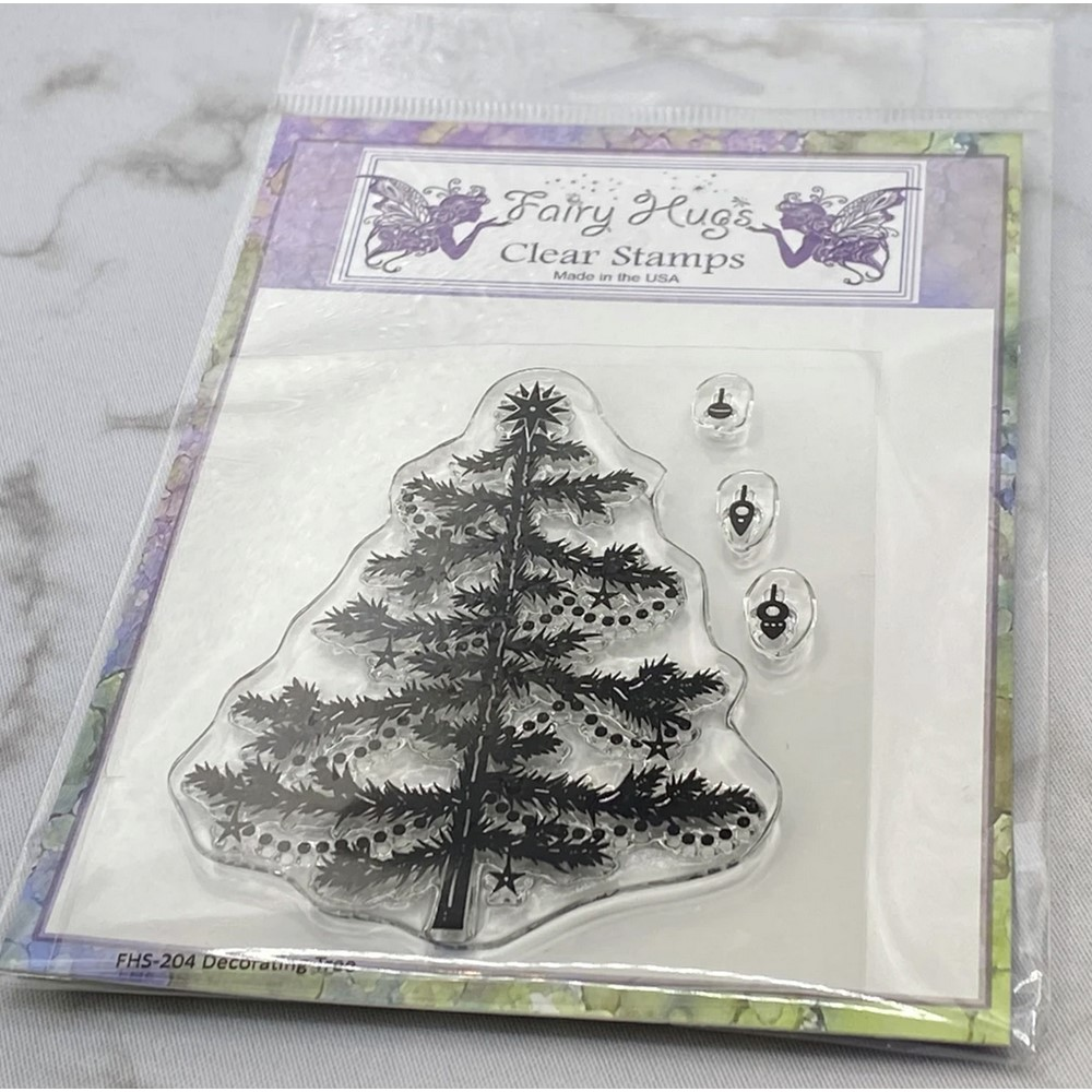 Fairy Hugs DECORATING TREE Clear Stamps FHS-204 zoom image