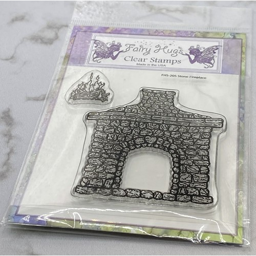 Fairy Hugs STONE FIREPLACE Clear Stamps FHS-205 Preview Image