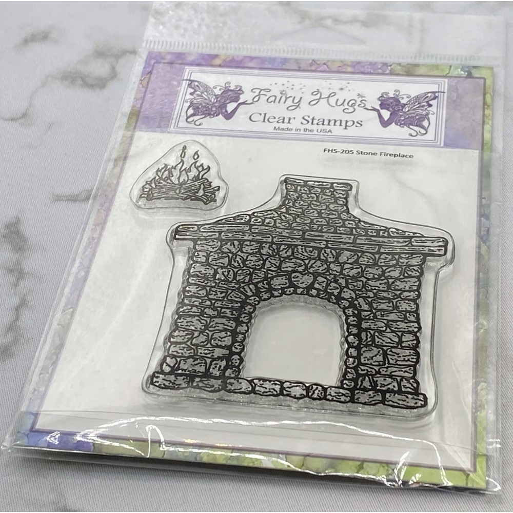 Fairy Hugs STONE FIREPLACE Clear Stamps FHS-205 zoom image