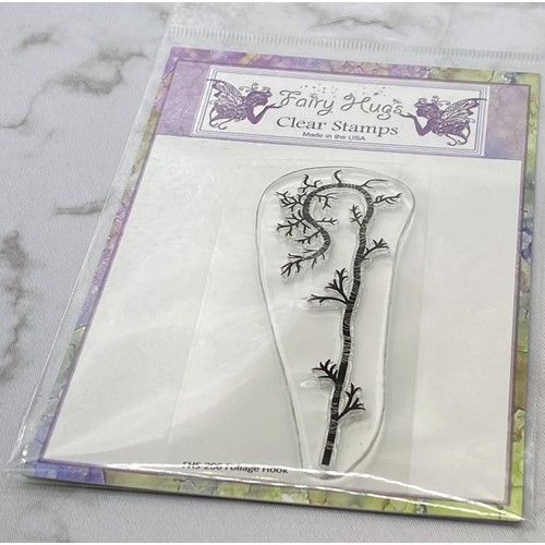 Fairy Hugs FOLIAGE HOOK Clear Stamp FHS-206 Preview Image