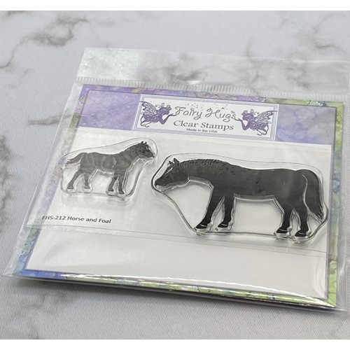 Fairy Hugs HORSE AND FOAL Clear Stamps FHS-212 Preview Image