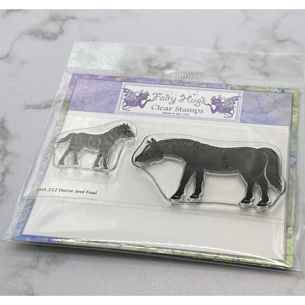 Fairy Hugs HORSE AND FOAL Clear Stamps FHS-212 zoom image