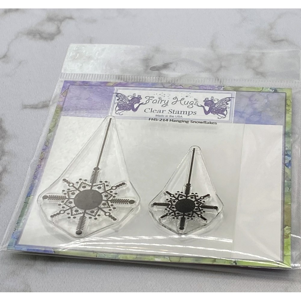 Fairy Hugs HANGING SNOWFLAKES Clear Stamps FHS-214 zoom image