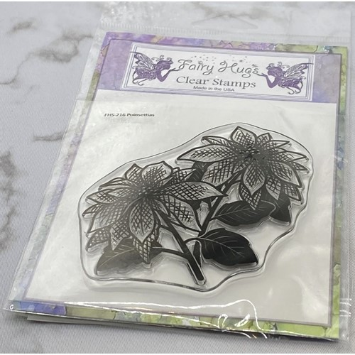 Fairy Hugs POINSETTIAS Clear Stamp FHS-216 Preview Image