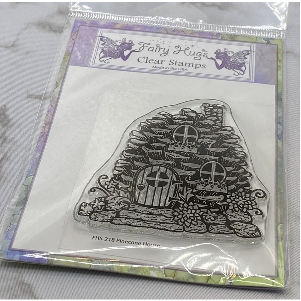 Fairy Hugs PINECONE HOUSE Clear Stamp FHS-218 zoom image