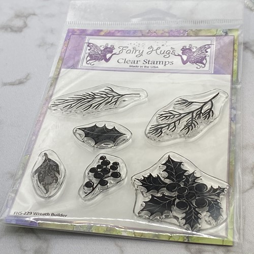 Fairy Hugs WREATH BUILDER Clear Stamps FHS-229 Preview Image