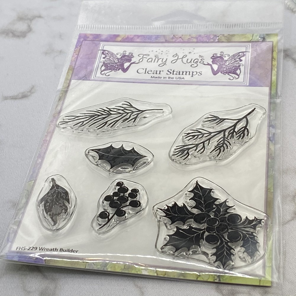 Fairy Hugs WREATH BUILDER Clear Stamps FHS-229 zoom image